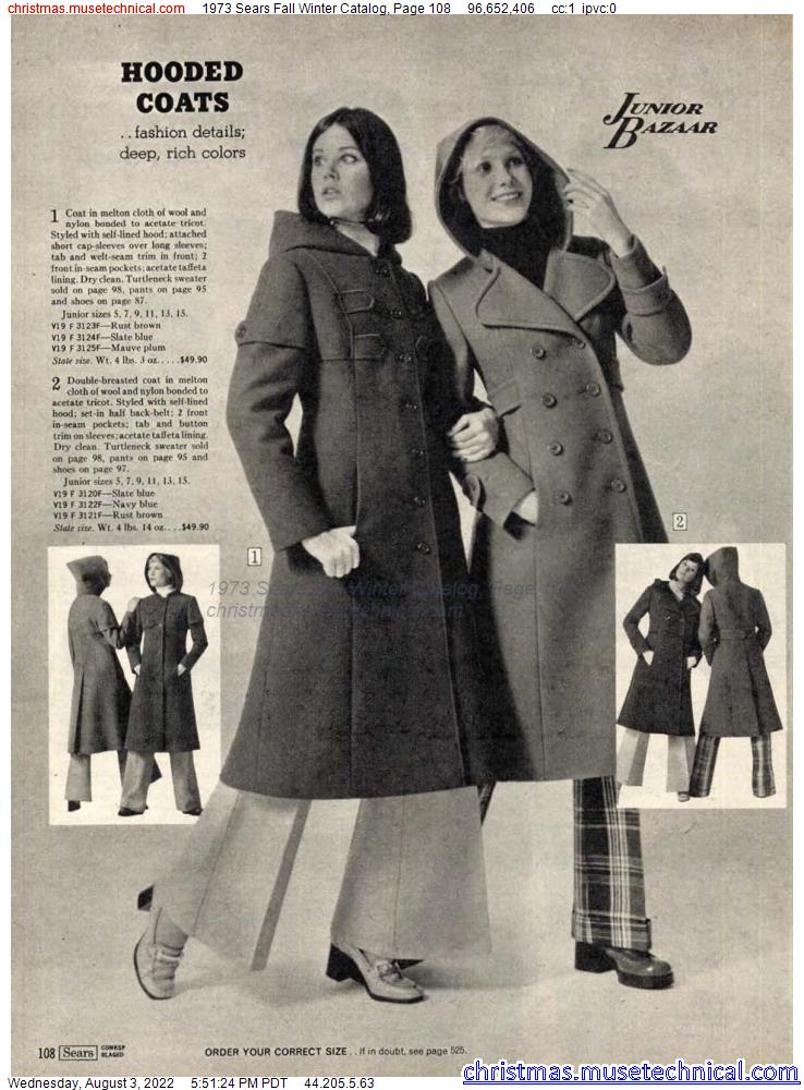 1973 Sears Fall Winter Catalog, Page 108