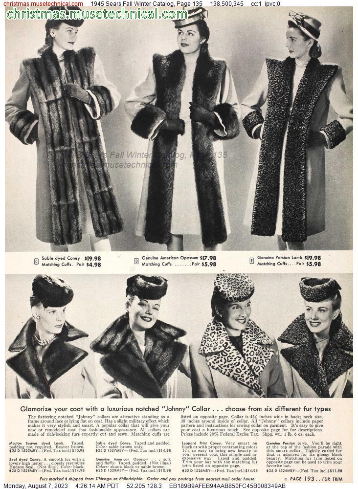 1945 Sears Christmas Catalog   Vintage christmas toys