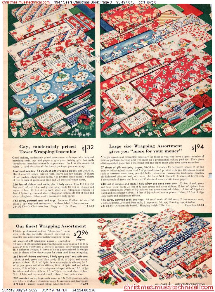 1947 Sears Christmas Book, Page 3