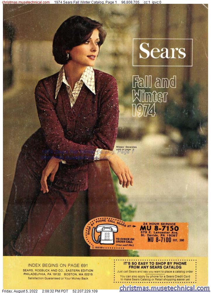 1974 Sears Fall Winter Catalog, Page 1