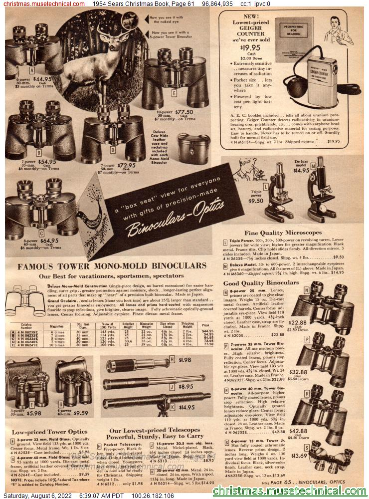 1954 Sears Christmas Book, Page 61