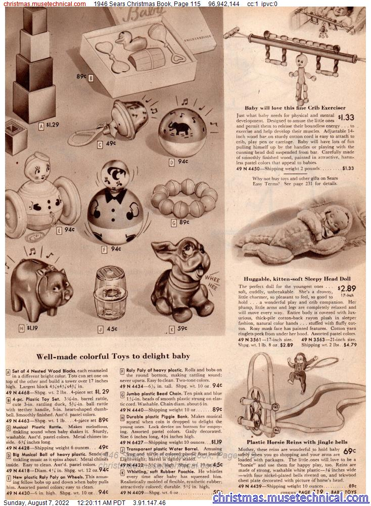 1946 Sears Christmas Book, Page 115