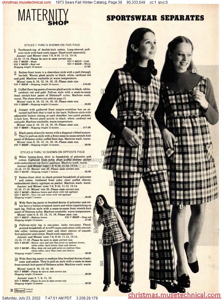 1973 Sears Fall Winter Catalog, Page 38