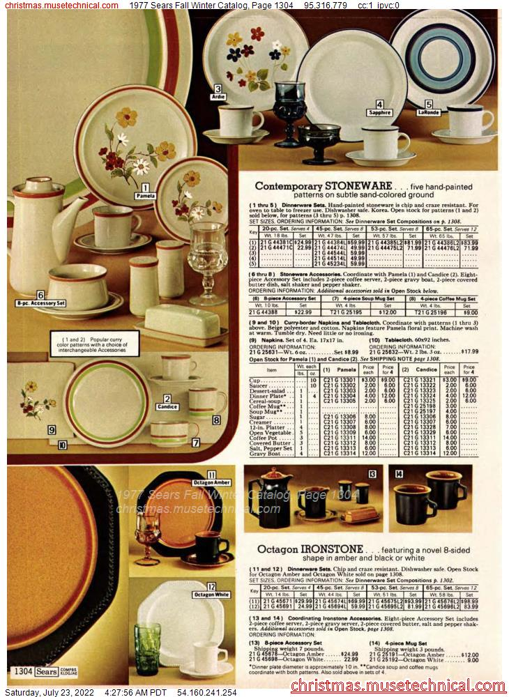 1977 Sears Fall Winter Catalog, Page 1304