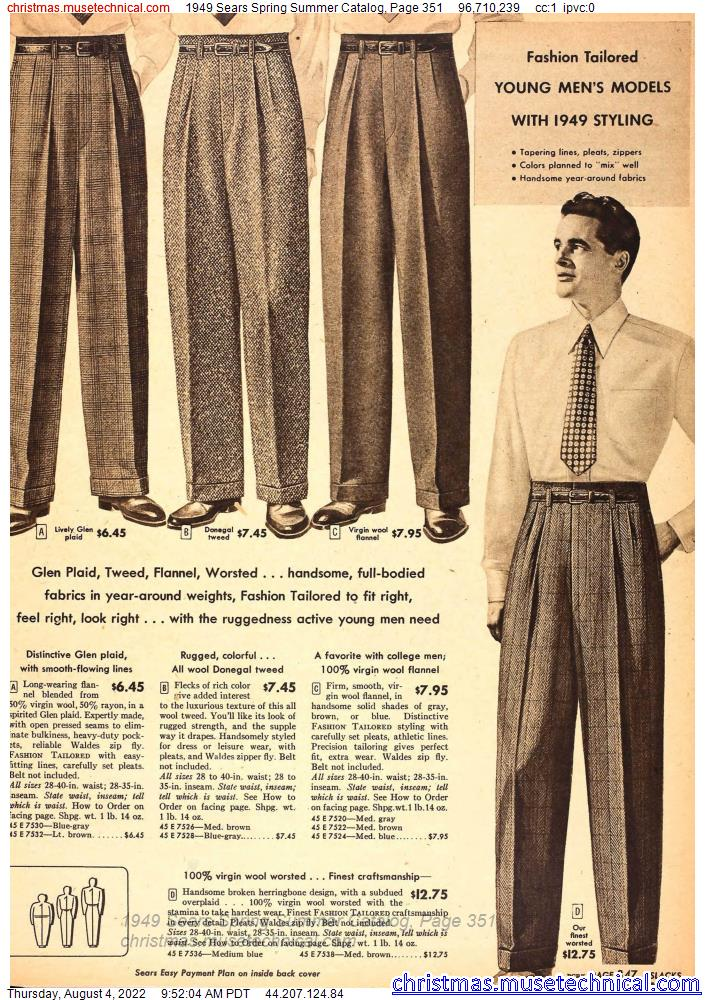 1949 Sears Spring Summer Catalog, Page 351