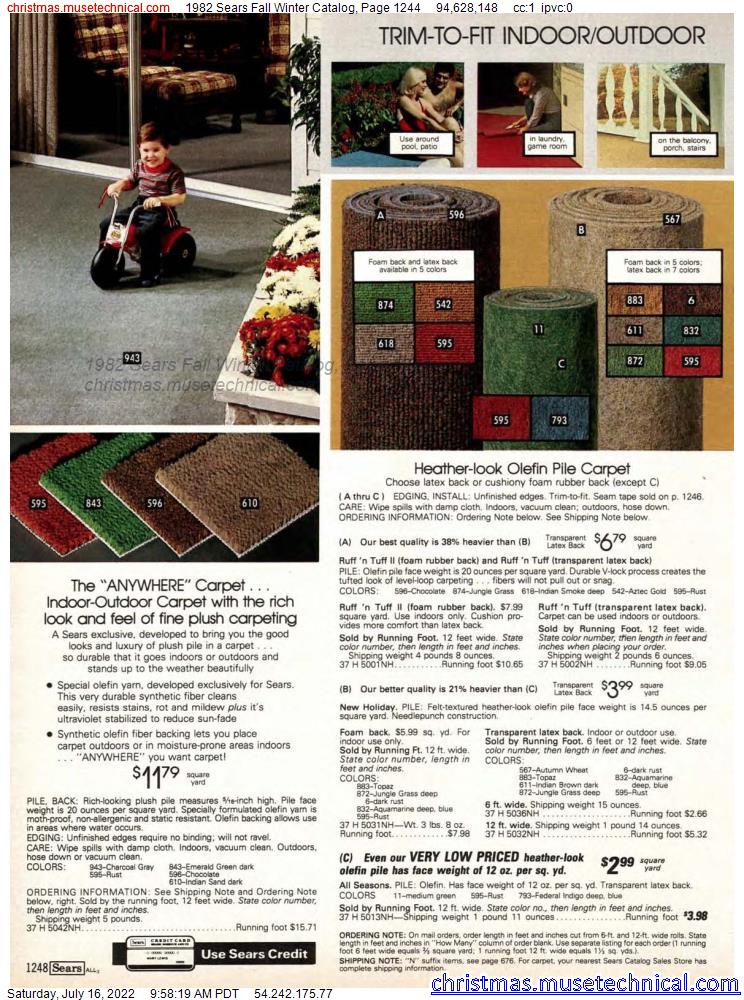 1982 Sears Fall Winter Catalog, Page 1244
