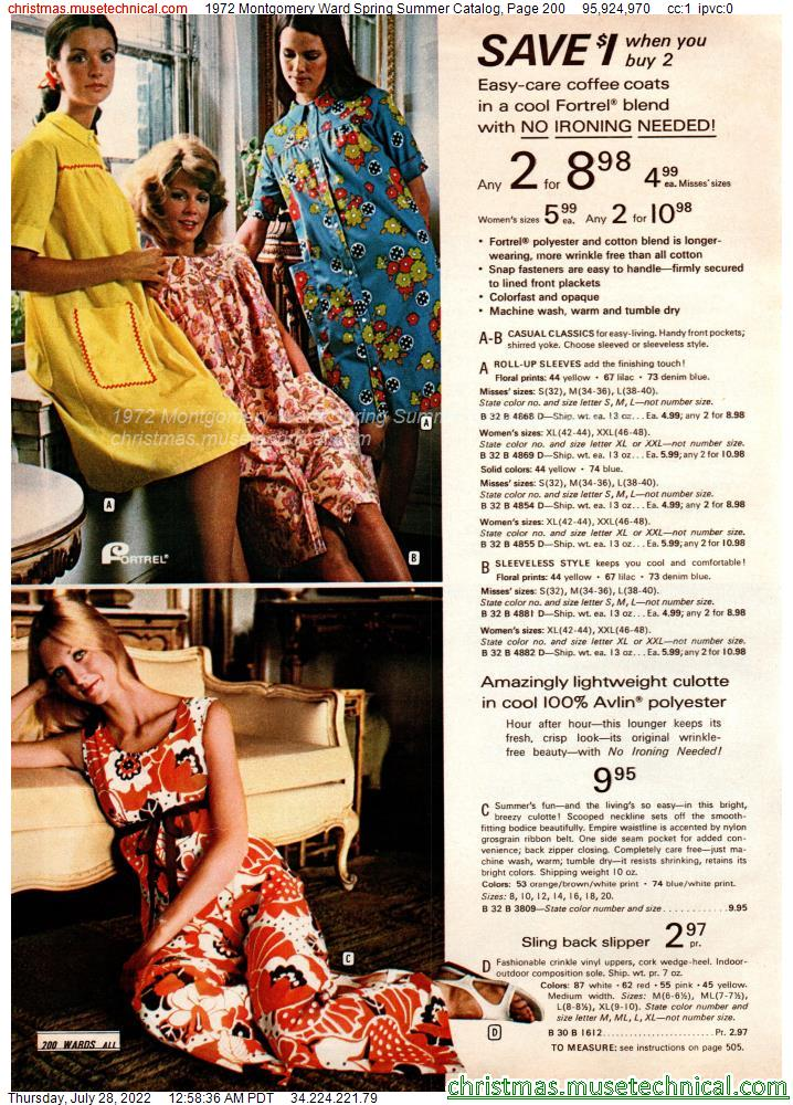 1972 Montgomery Ward Spring Summer Catalog, Page 200