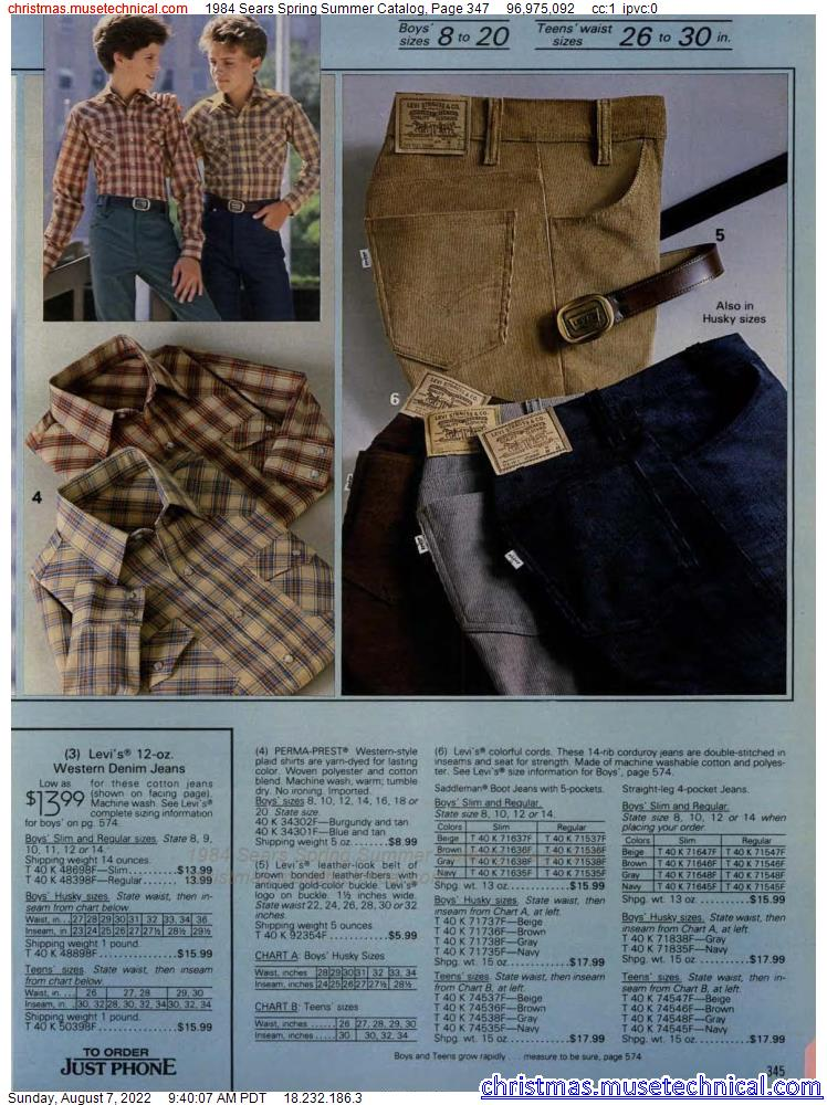 1984 Sears Spring Summer Catalog, Page 347