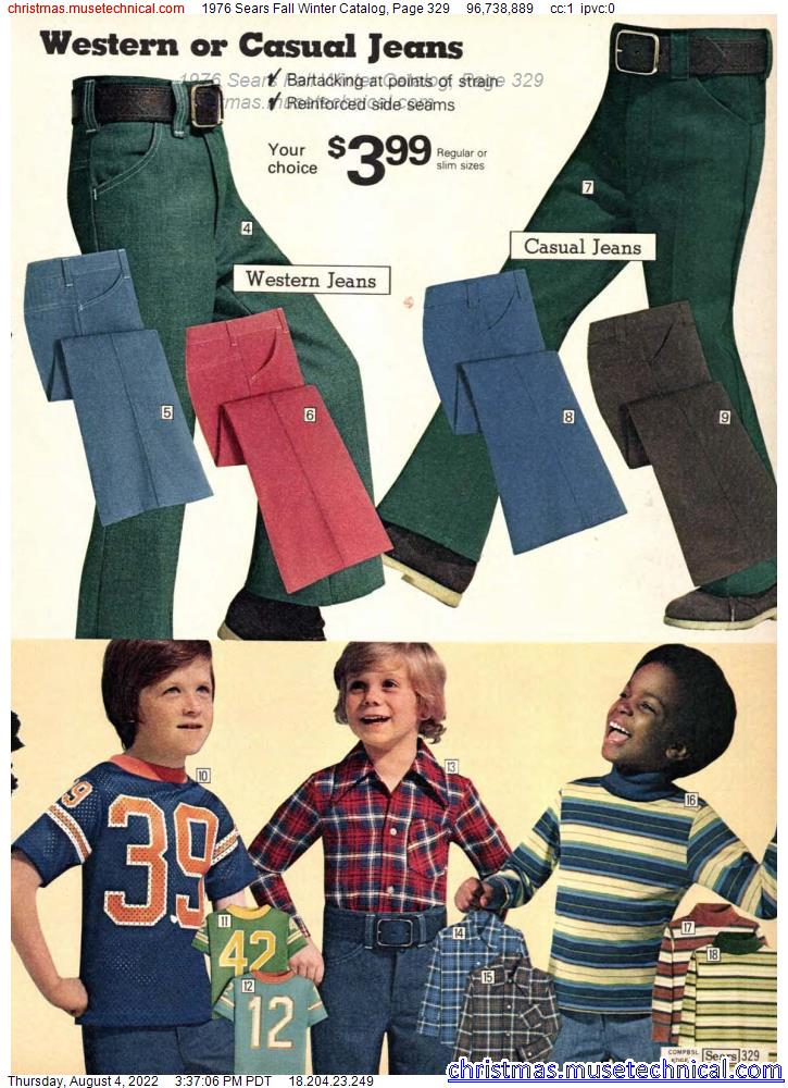 1976 Sears Fall Winter Catalog, Page 329