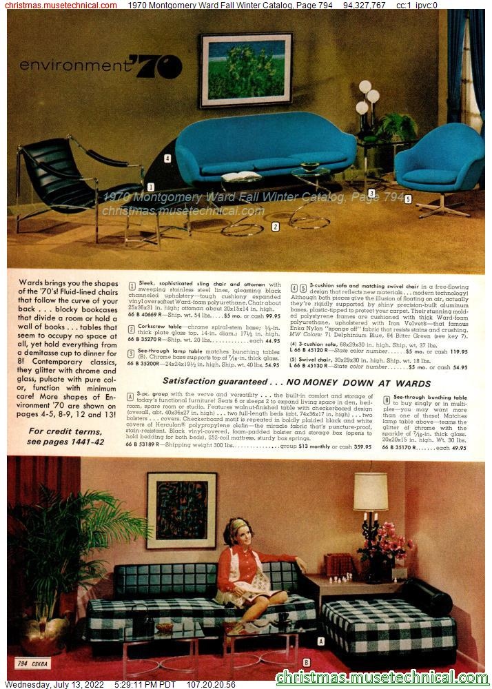 1970 Montgomery Ward Fall Winter Catalog, Page 794