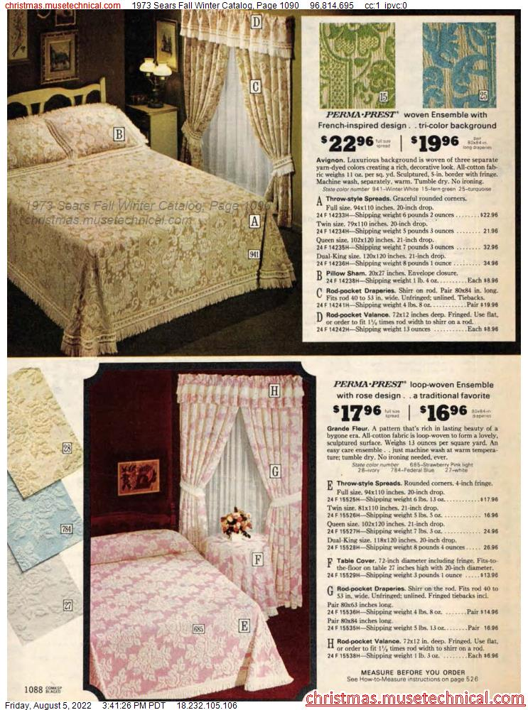 1973 Sears Fall Winter Catalog, Page 1090