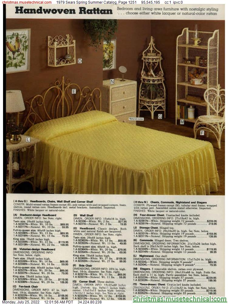 1979 Sears Spring Summer Catalog, Page 1251