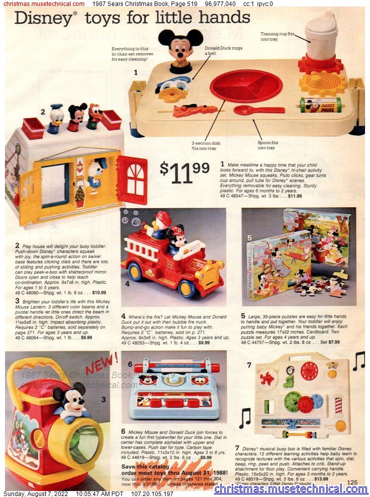 1987 Sears Christmas Book, Page 519
