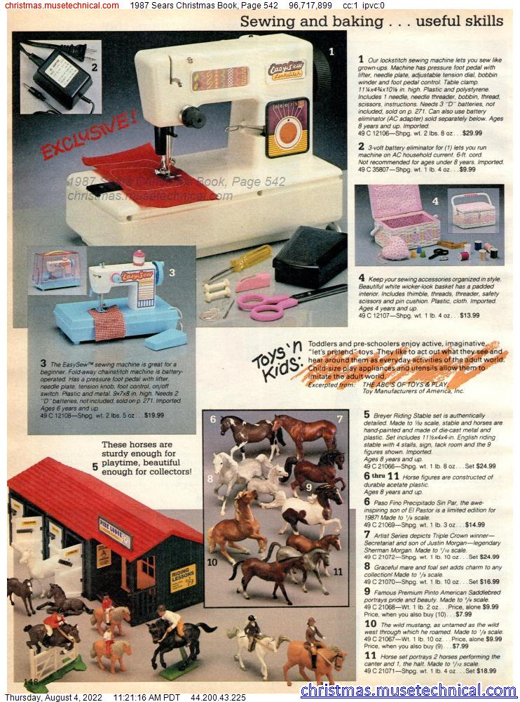 1987 Sears Christmas Book, Page 542