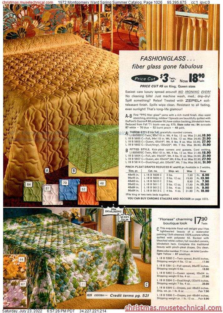 1972 Montgomery Ward Spring Summer Catalog, Page 1026