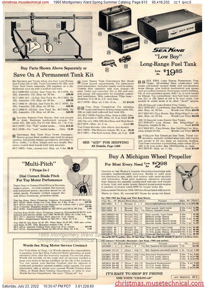 1965 Montgomery Ward Spring Summer Catalog, Page 813