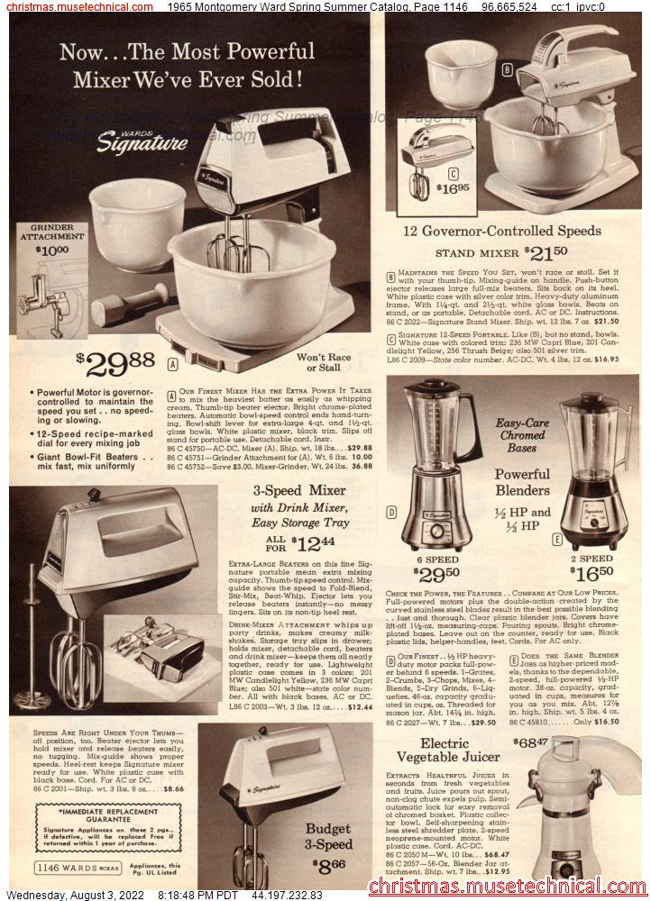 1965 Montgomery Ward Spring Summer Catalog, Page 1146
