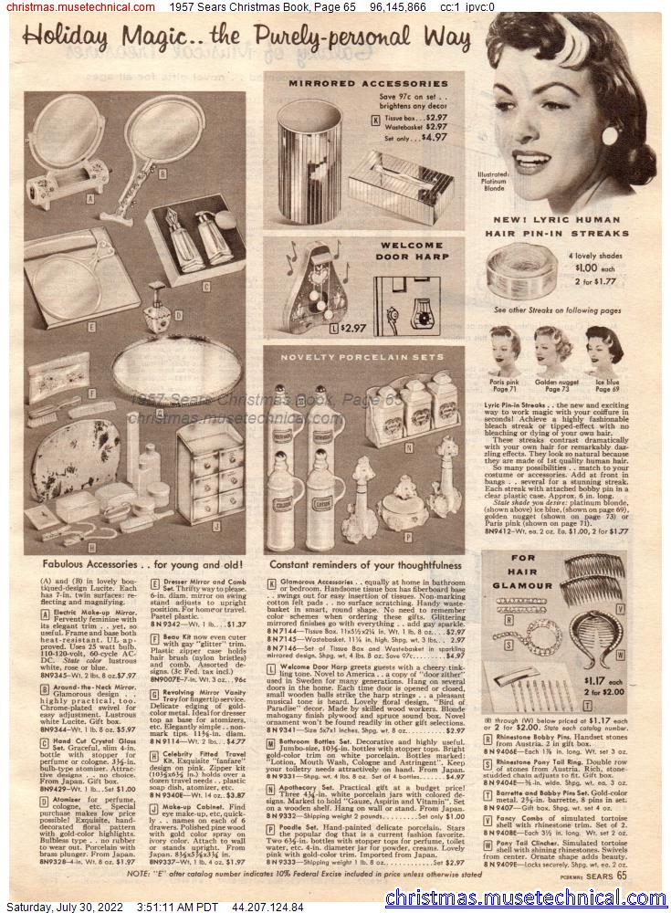 1957 Sears Christmas Book, Page 65