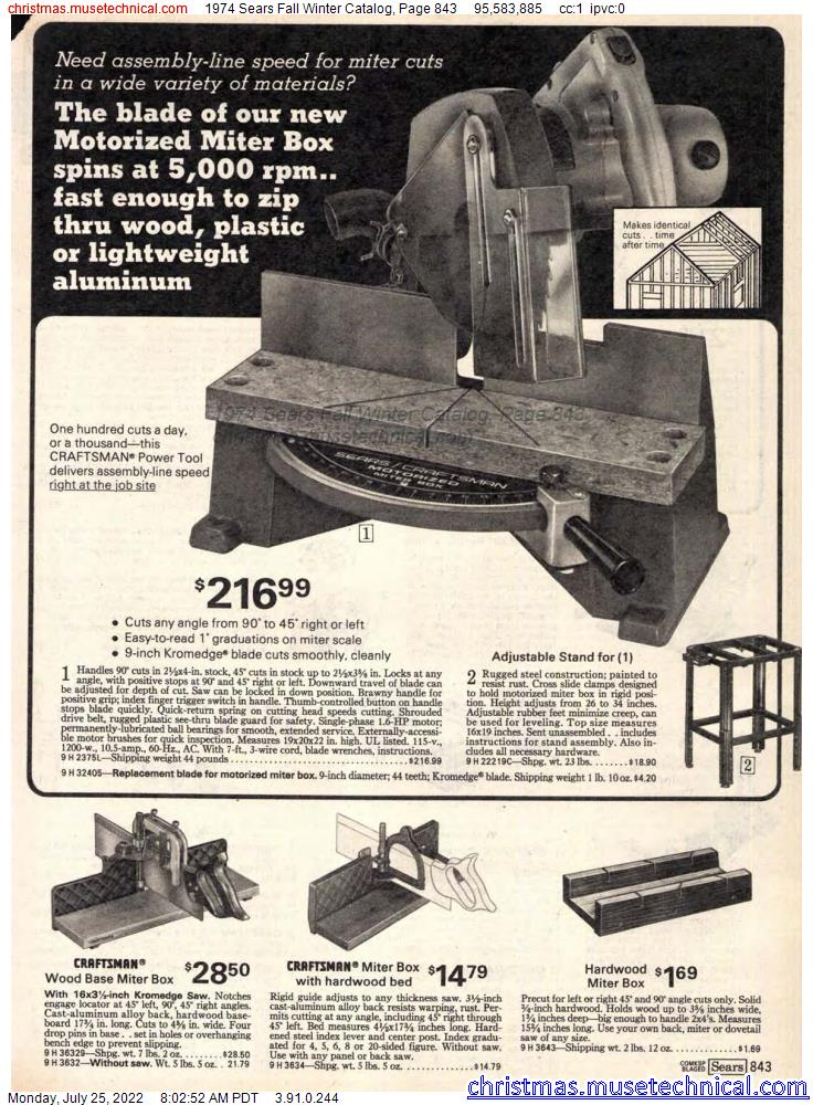1974 Sears Fall Winter Catalog, Page 843