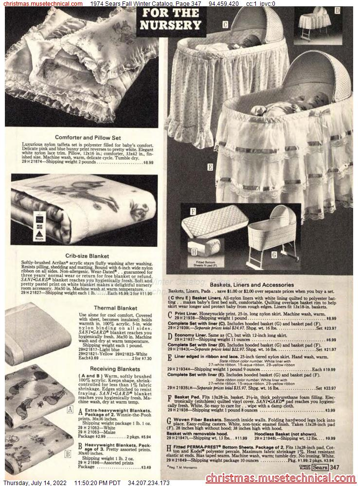1974 Sears Fall Winter Catalog, Page 347
