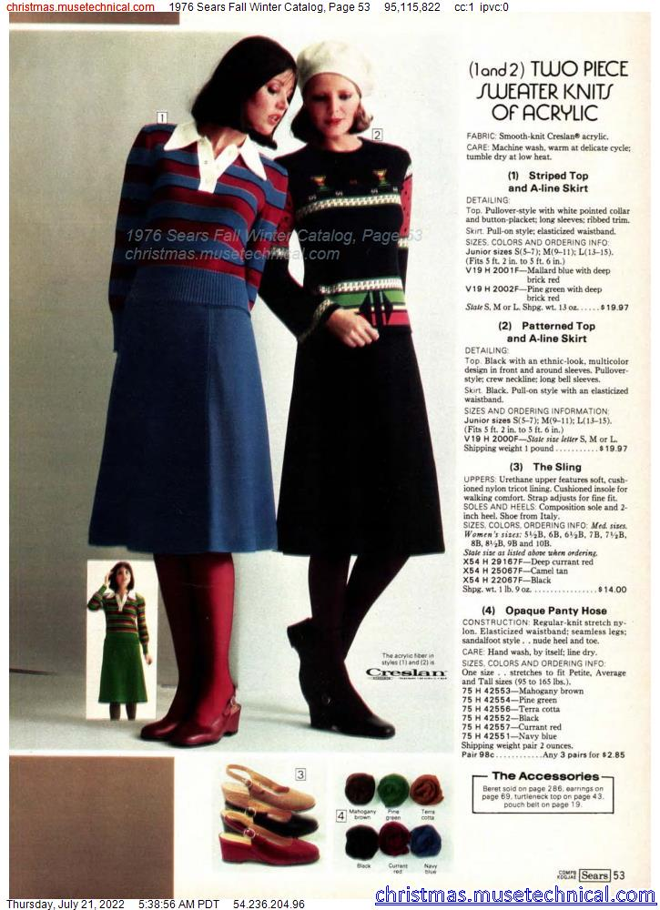 1976 Sears Fall Winter Catalog, Page 53