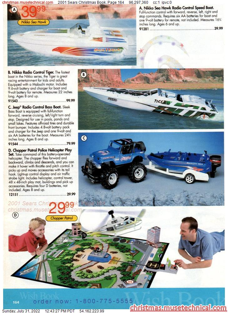 2001 Sears Christmas Book, Page 164