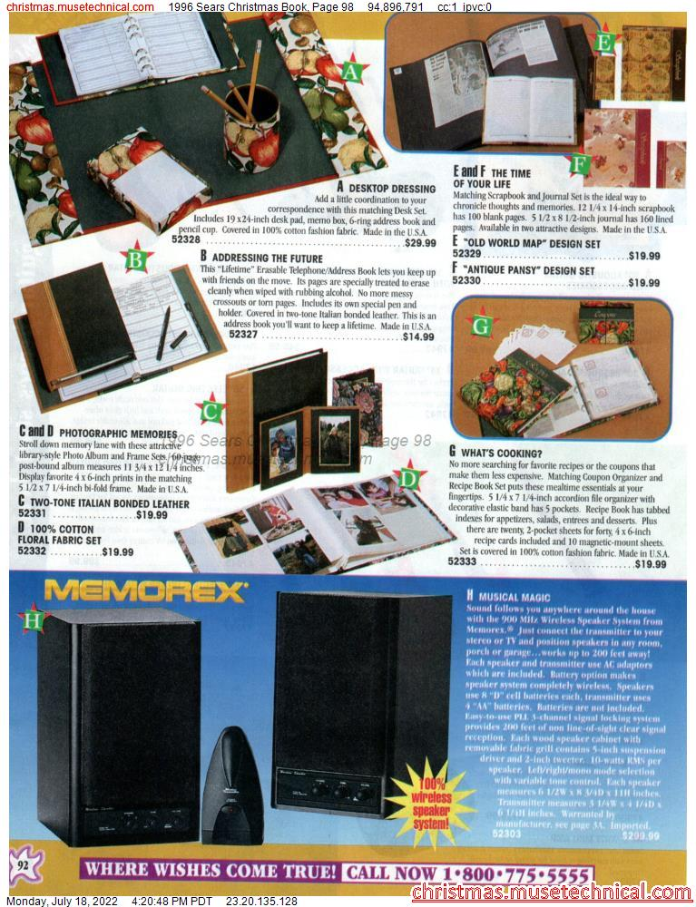 1996 Sears Christmas Book, Page 98