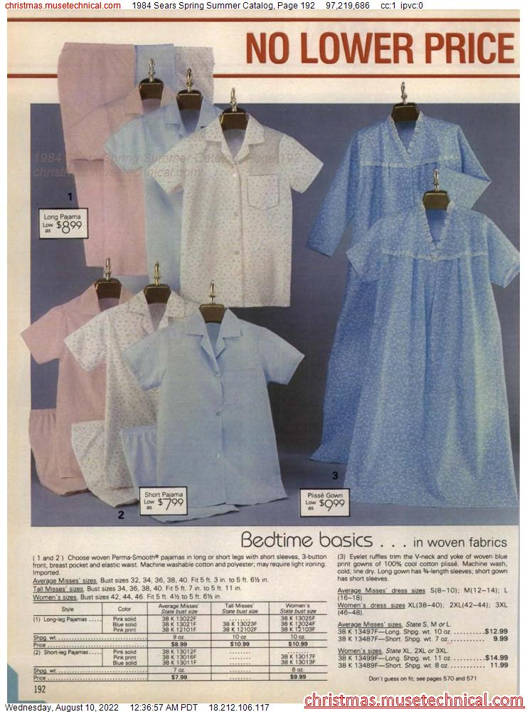 1984 Sears Spring Summer Catalog, Page 192