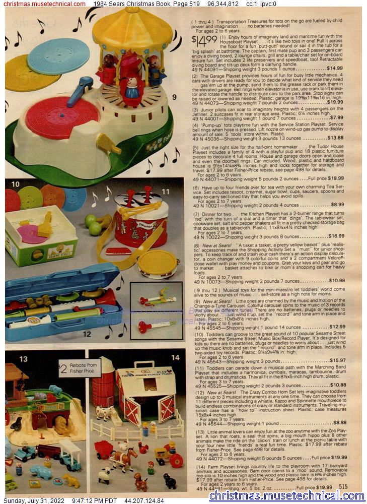 1984 Sears Christmas Book, Page 519