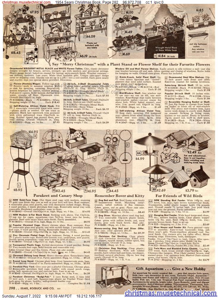 1954 Sears Christmas Book, Page 282