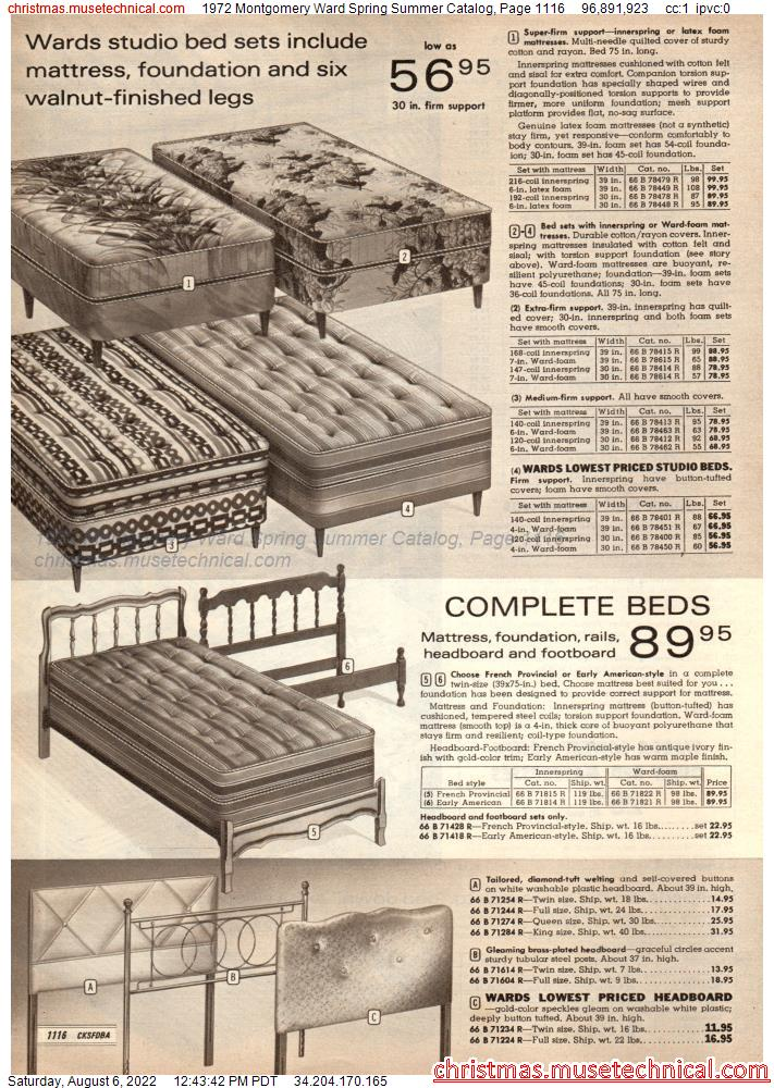 1972 Montgomery Ward Spring Summer Catalog, Page 1116