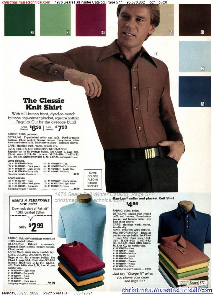1976 Sears Fall Winter Catalog, Page 577