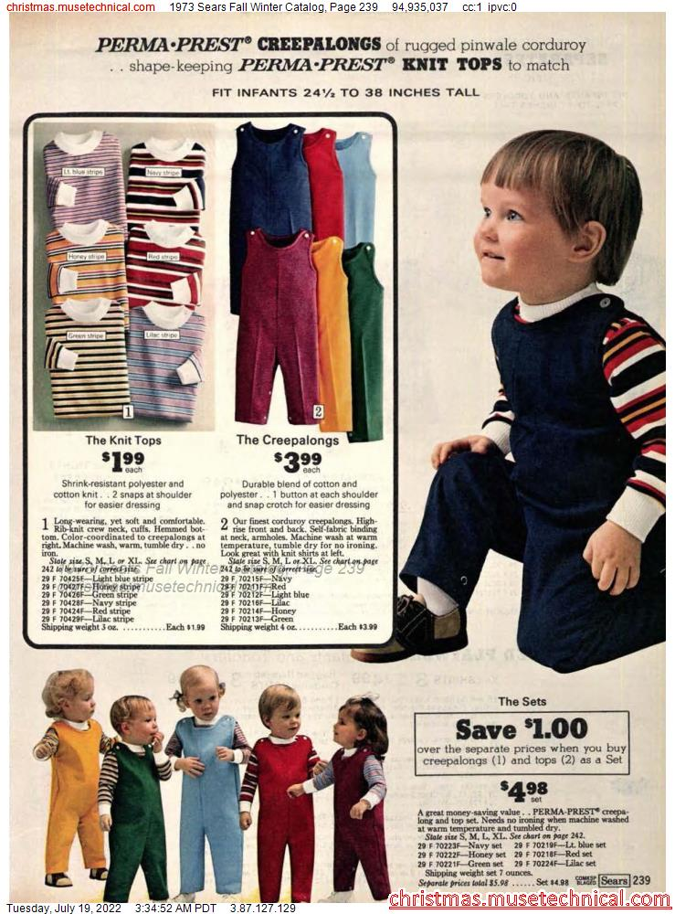 1973 Sears Fall Winter Catalog, Page 239
