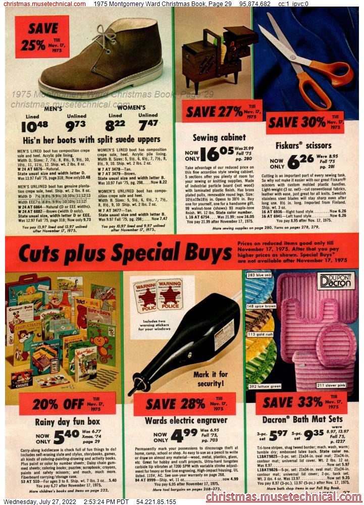 1975 Montgomery Ward Christmas Book, Page 29