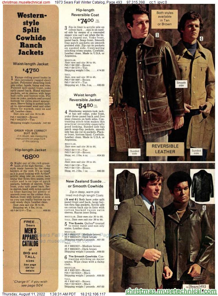 1973 Sears Fall Winter Catalog, Page 493