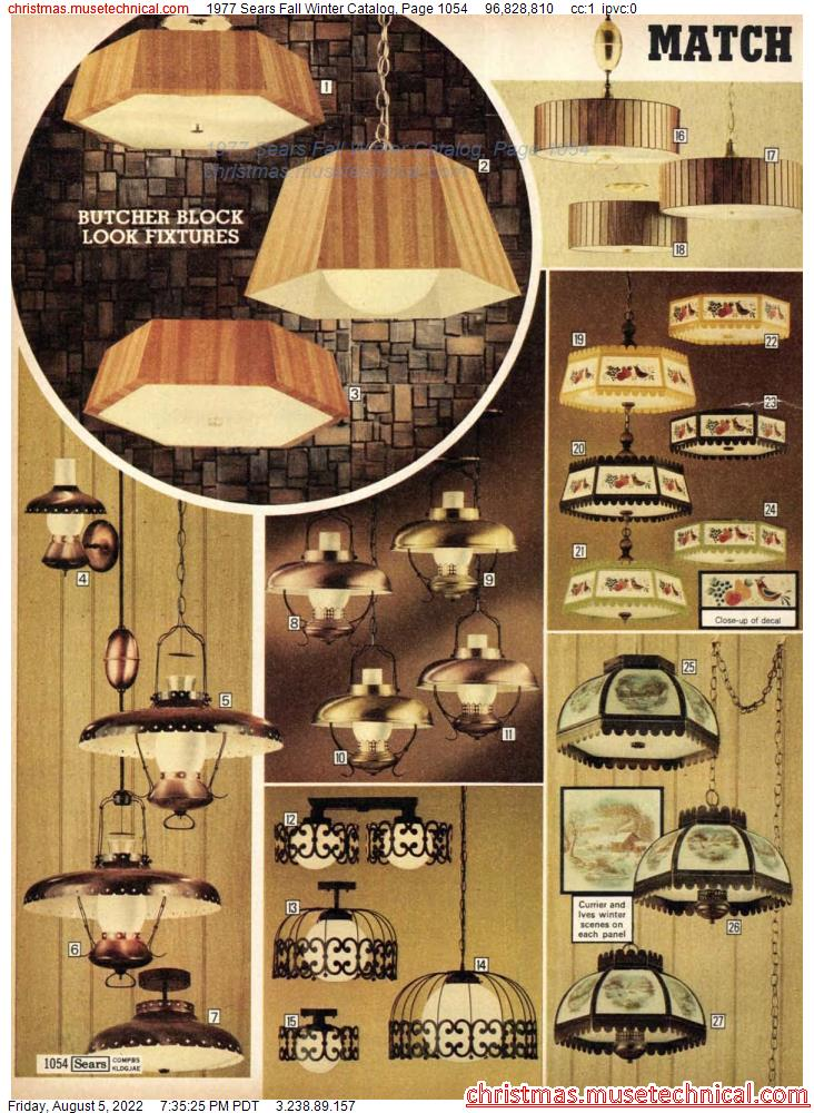 1977 Sears Fall Winter Catalog, Page 1054