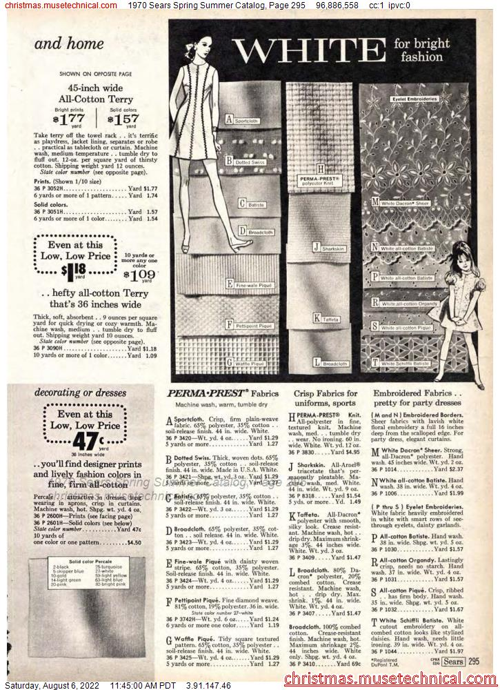 1970 Sears Spring Summer Catalog, Page 295