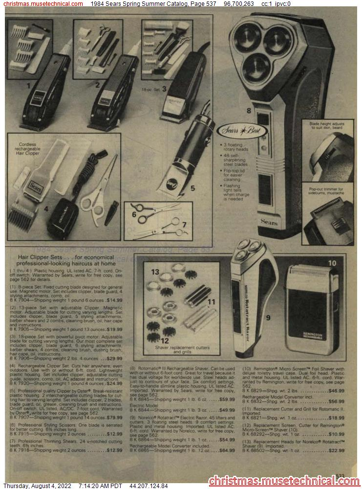 1984 Sears Spring Summer Catalog, Page 537