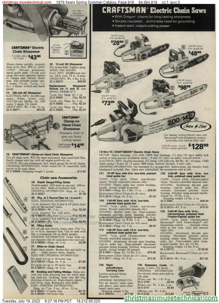 1979 Sears Spring Summer Catalog, Page 819