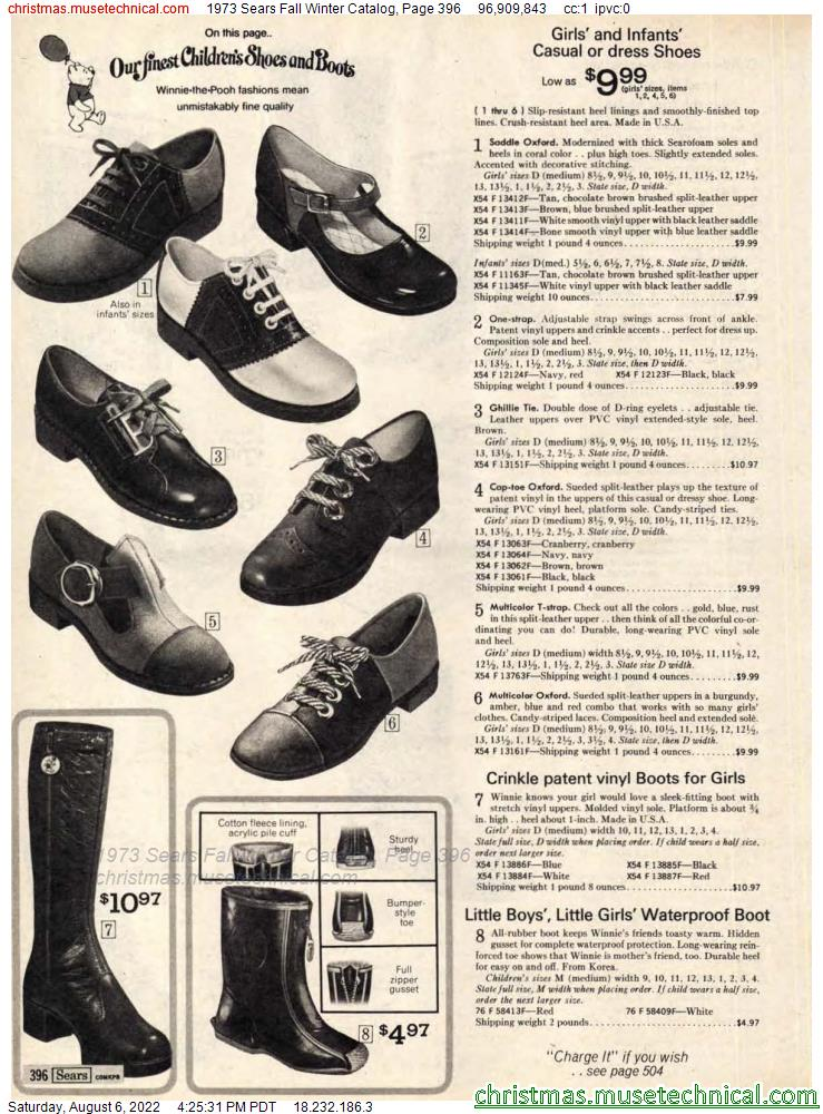 1973 Sears Fall Winter Catalog, Page 396