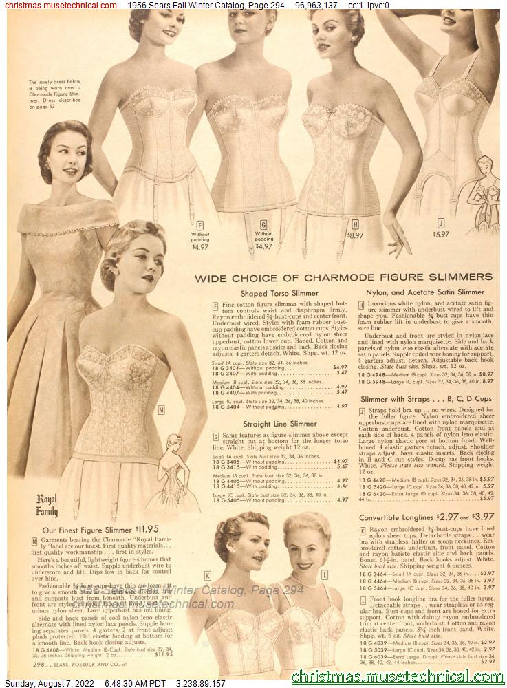 1956 Sears Fall Winter Catalog, Page 294
