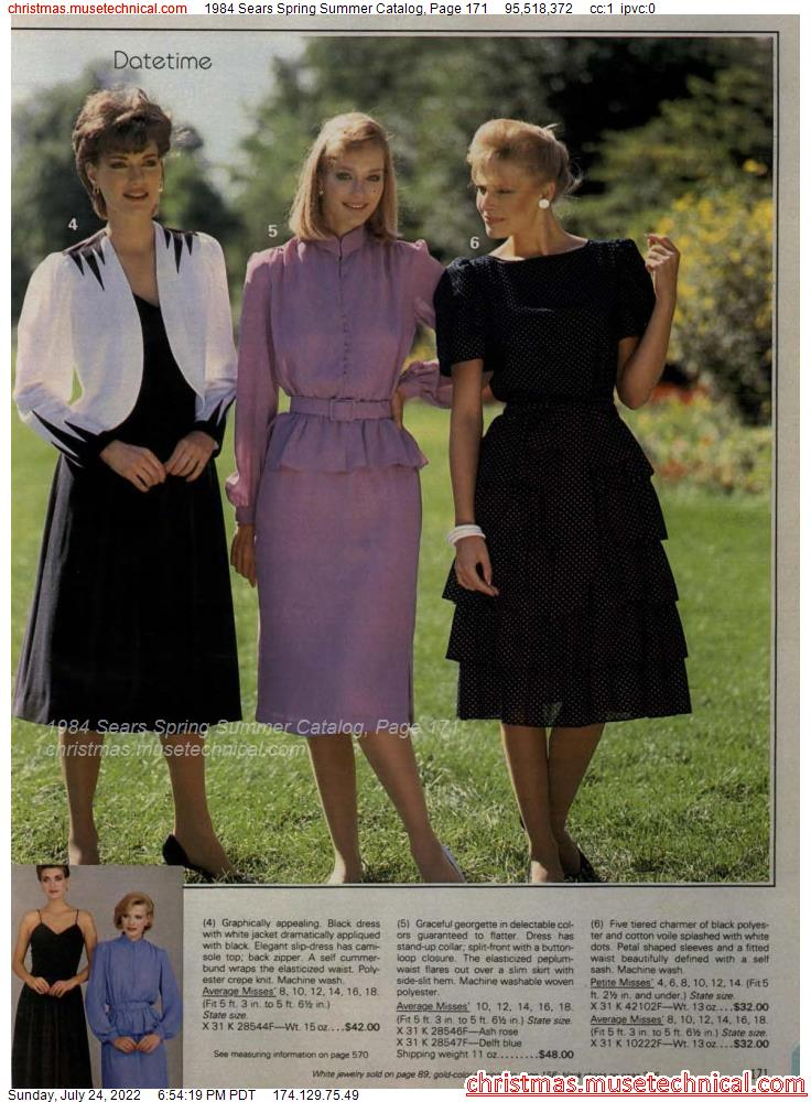 1984 Sears Spring Summer Catalog, Page 171