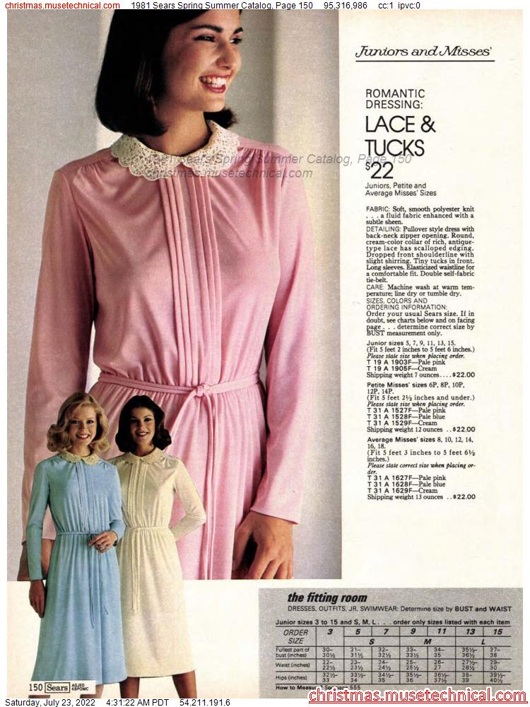 1981 Sears Spring Summer Catalog, Page 150