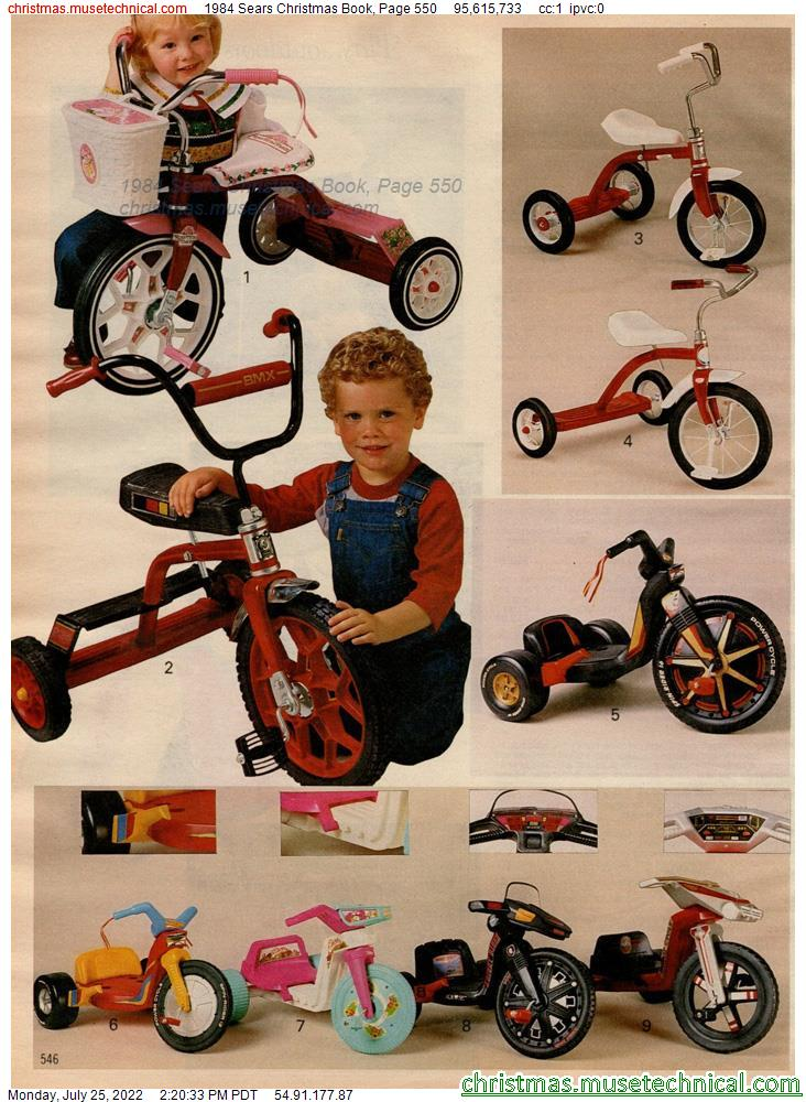 1984 Sears Christmas Book, Page 550