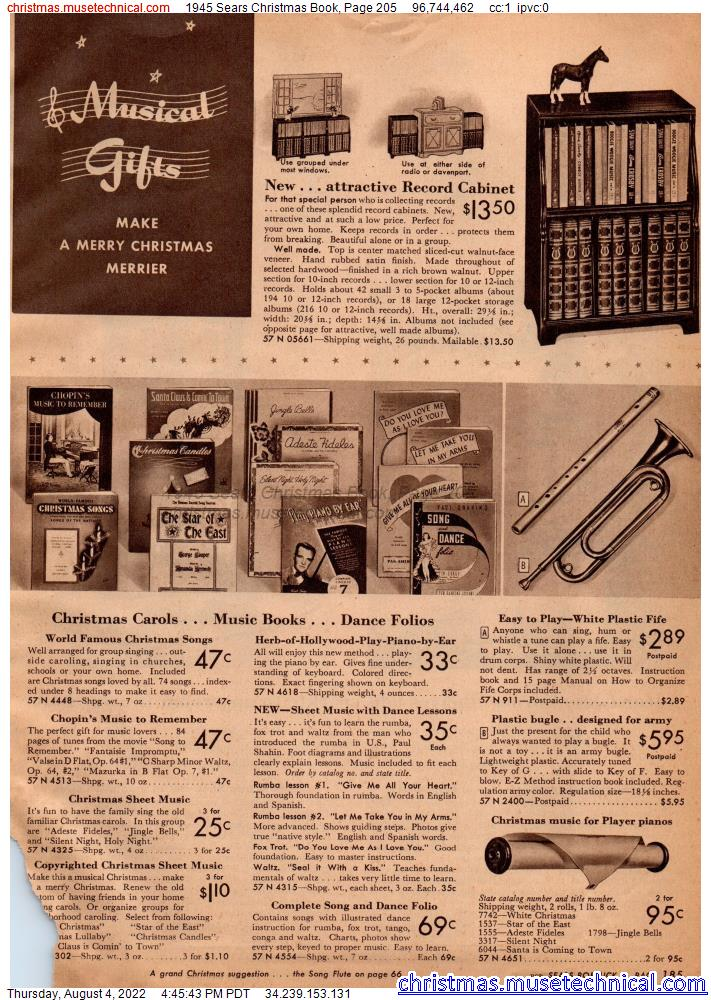 1945 Sears Christmas Book, Page 205