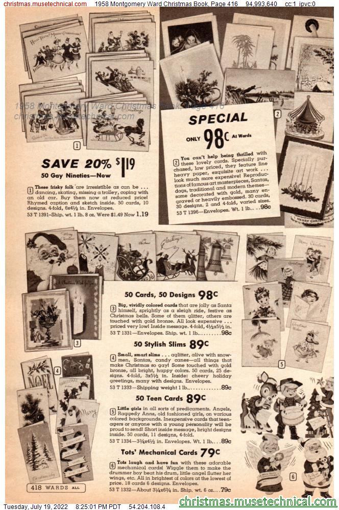 1958 Montgomery Ward Christmas Book, Page 416