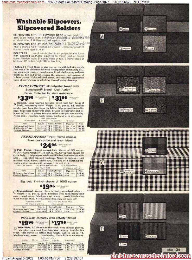1973 Sears Fall Winter Catalog, Page 1071