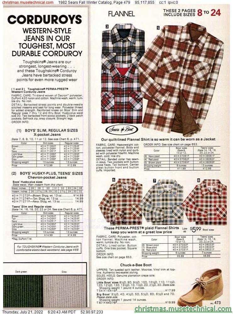 1982 Sears Fall Winter Catalog, Page 479
