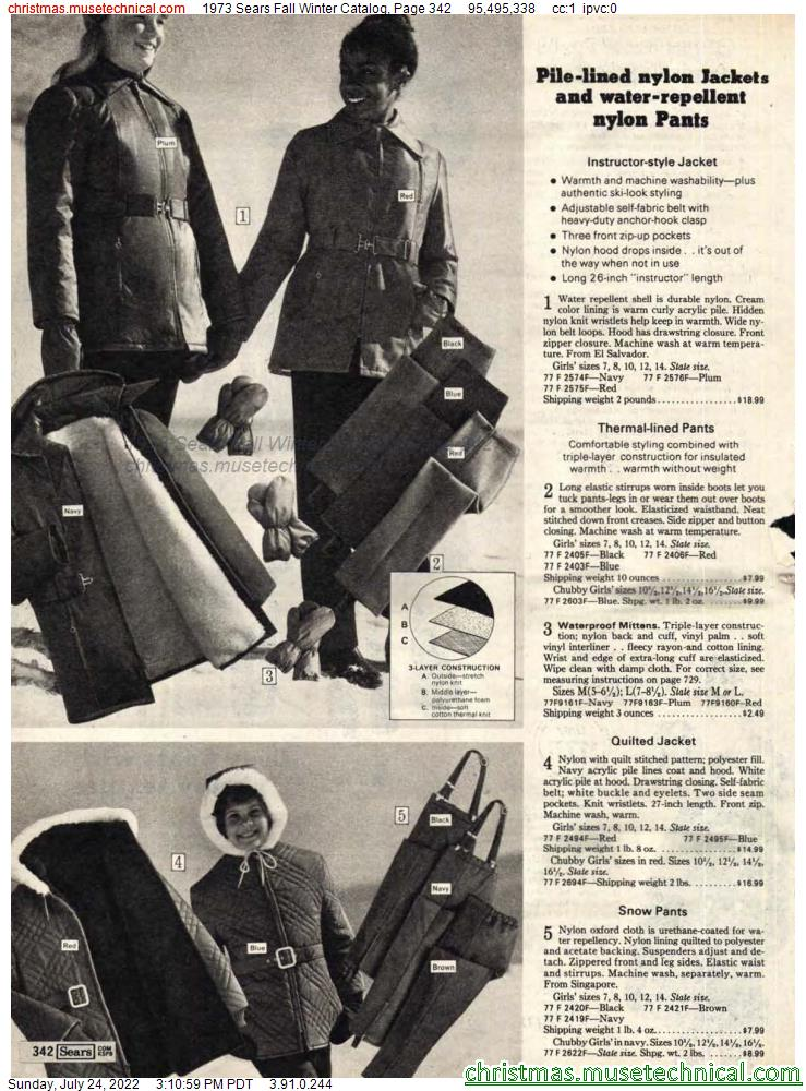 1973 Sears Fall Winter Catalog, Page 342