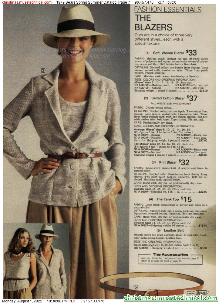 1979 Sears Spring Summer Catalog, Page 7